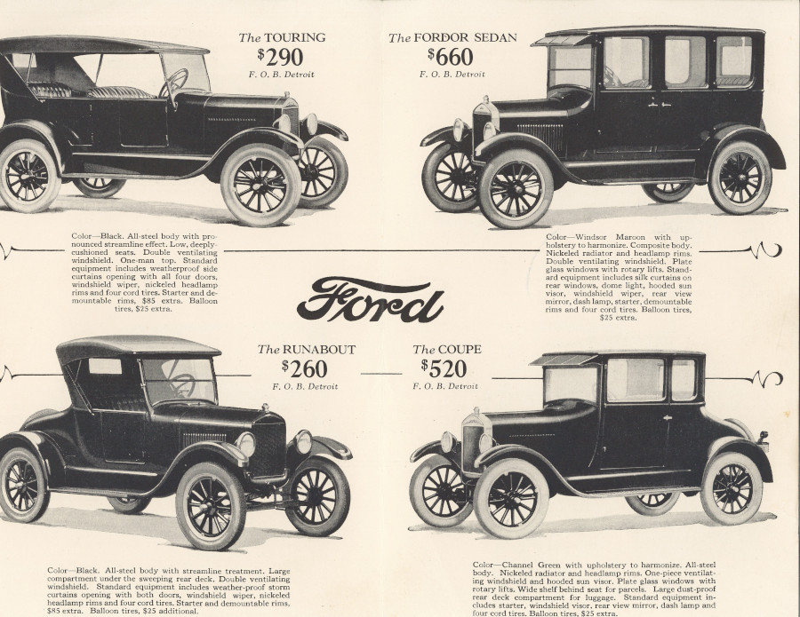 1924 Ford Model T brochure (National Automotive History Collection)